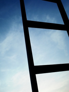 Photo of a ladder against the sky
