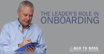 The Leader's Role in Onboarding